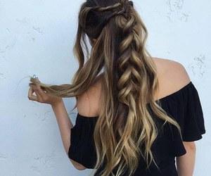 braid, girl, and girly image