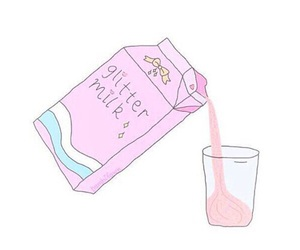 milk, pink, and glitter image