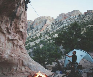 mountains, camping, and travel image