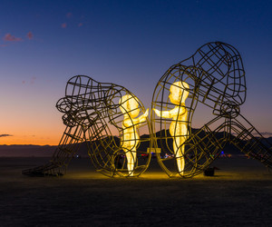 art, sculpture, and Burning Man image
