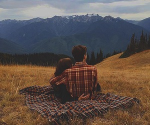 couple, nature, and photography image