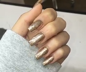 glitter, grey, and nails image