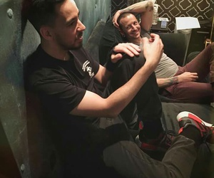 chester, linkin park, and mike shinoda image