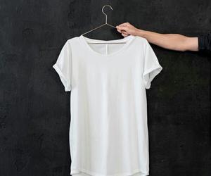 fashion, white, and t-shirt image