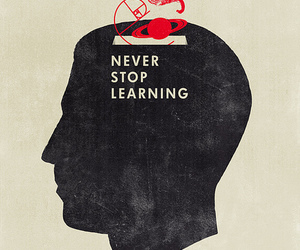 learning, quotes, and never image