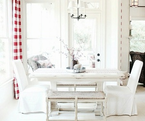 dining room, home decor, and white chairs image