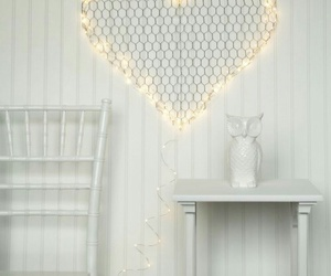 hearts, white paint, and white rooms image