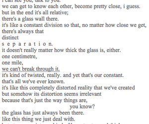 distance, glass, and seperation image