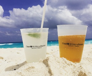 2016, cancun, and drinks image