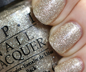 beuty, glitter, and nails image