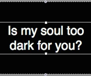 dark, soul, and black image