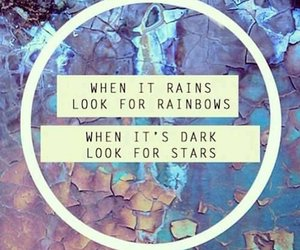 rainbow, stars, and quotes image
