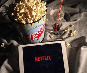 popcorn and netflix image
