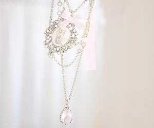 pastel, necklace, and pink image