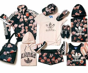 adidas, flowers, and rose image