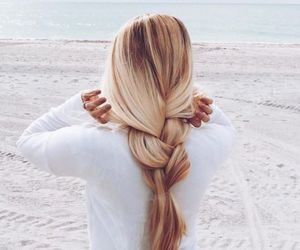 beach, blonde, and style image