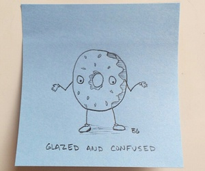 confused, dazed and confused, and donut image