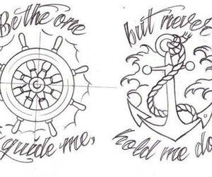 anchor, tattoo, and quote image