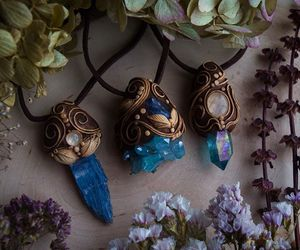 crystal, accessories, and blue image