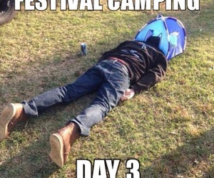 camping, festival, and lol image