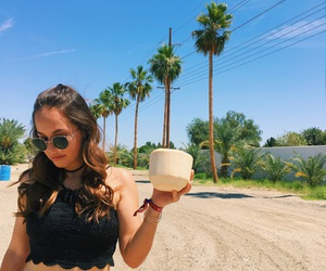 coachella, coconut, and girls image