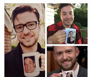 justin timberlake, mug, and photo image