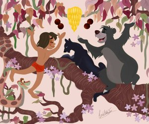 1967, disney, and jungle book image