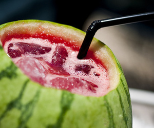 drink, watermelon, and mouth watering image