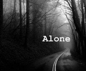 black and white, alone, and boy image