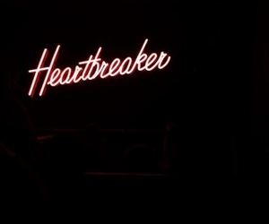heartbreaker, red, and neon image