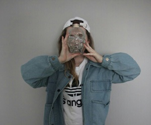 grunge, girl, and adidas image