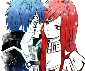 jerza, fairy tail, and anime image
