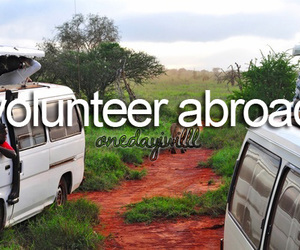 abroad, one day, and volunteer image