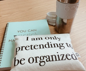 notebook, planner, and girly+ image