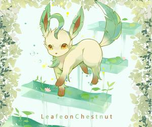 pokemon, leafeon, and eevee image