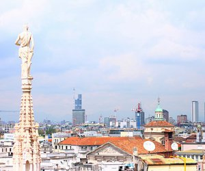 italy, sky, and milan image