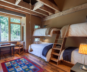 bed, bunk beds, and decor image