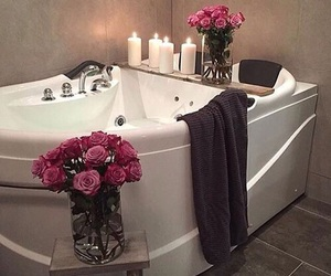 rose, bath, and home image