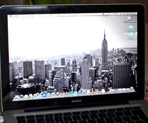 laptop, macbook, and new york image