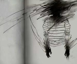 art, black, and dark image