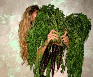 greens, vegan, and vegetables image