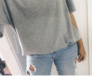 grey, jeans, and look image