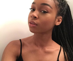 beauty, braids, and nose piercing image