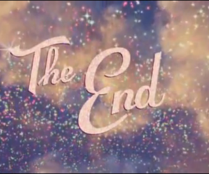 the end, glitter, and pink image