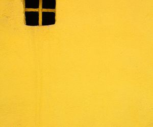 yellow, window, and wall image