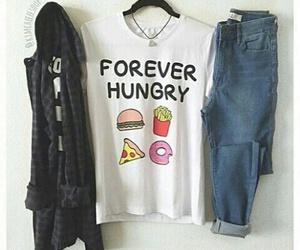 outfit, fashion, and hungry image