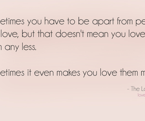 apart, quotes, and love image