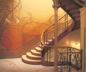 stairs and Art Nouveau image