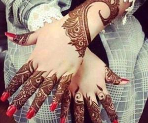 hands, henna, and mehendi image