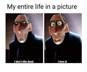 food, funny, and me image
